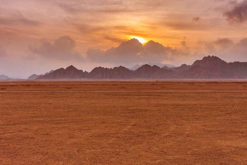 Sinai Peninsula desert sunrise