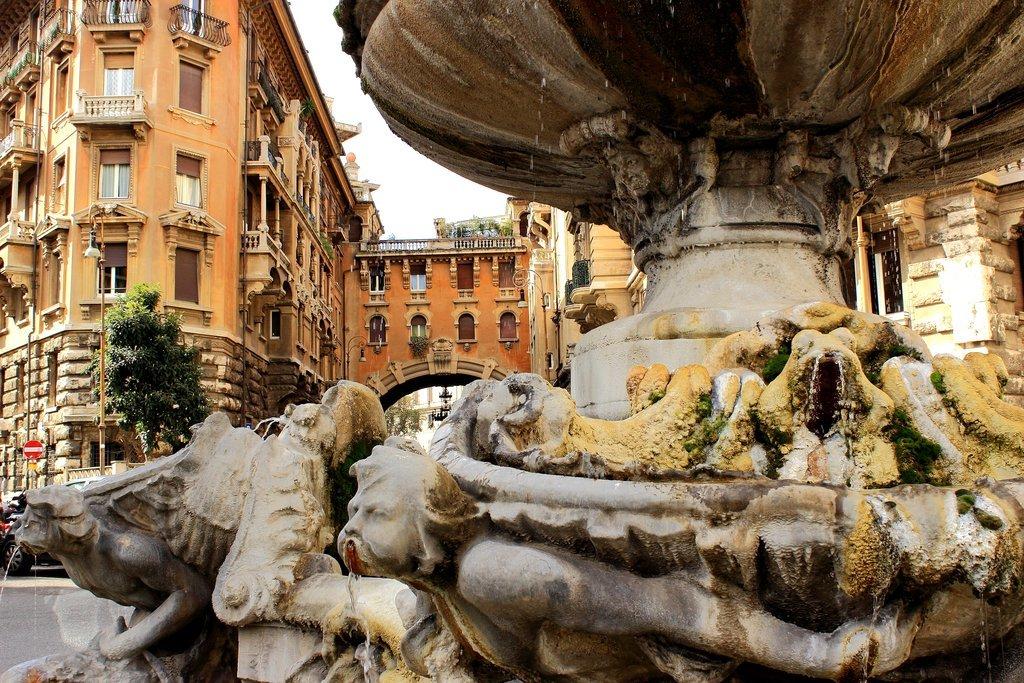 A cobbled street in Rome's Jewish Ghetto