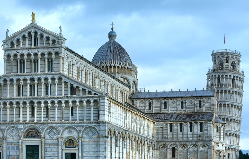 Visit the world-famous Leaning Tower of Pisa in the Piazza dei Miracoli