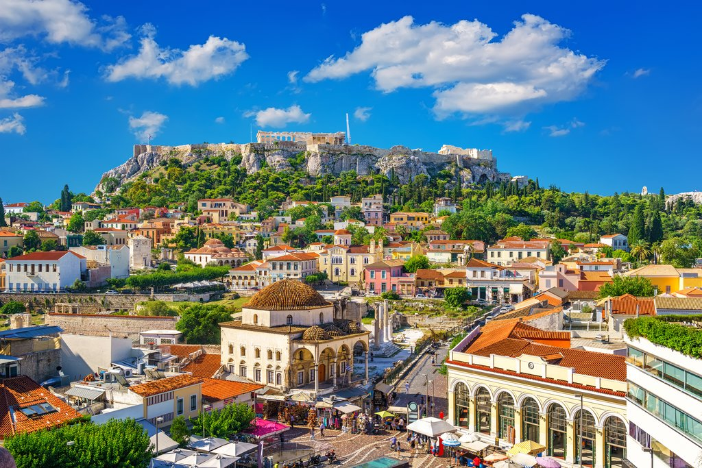 A view of the Acropolis from Plaka