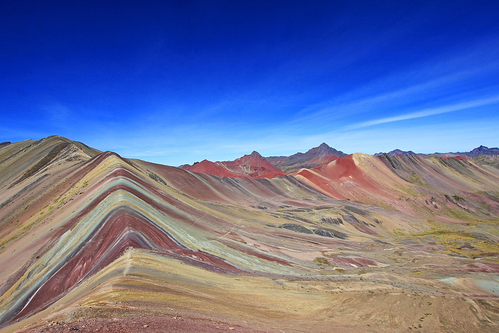Mt. Vinicunca (Rainbow Mountain) at sunrise