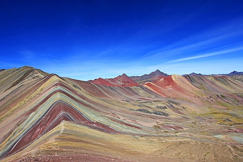 Mt. Vinicunca (Rainbow Mountain) at sunrise on Day 4