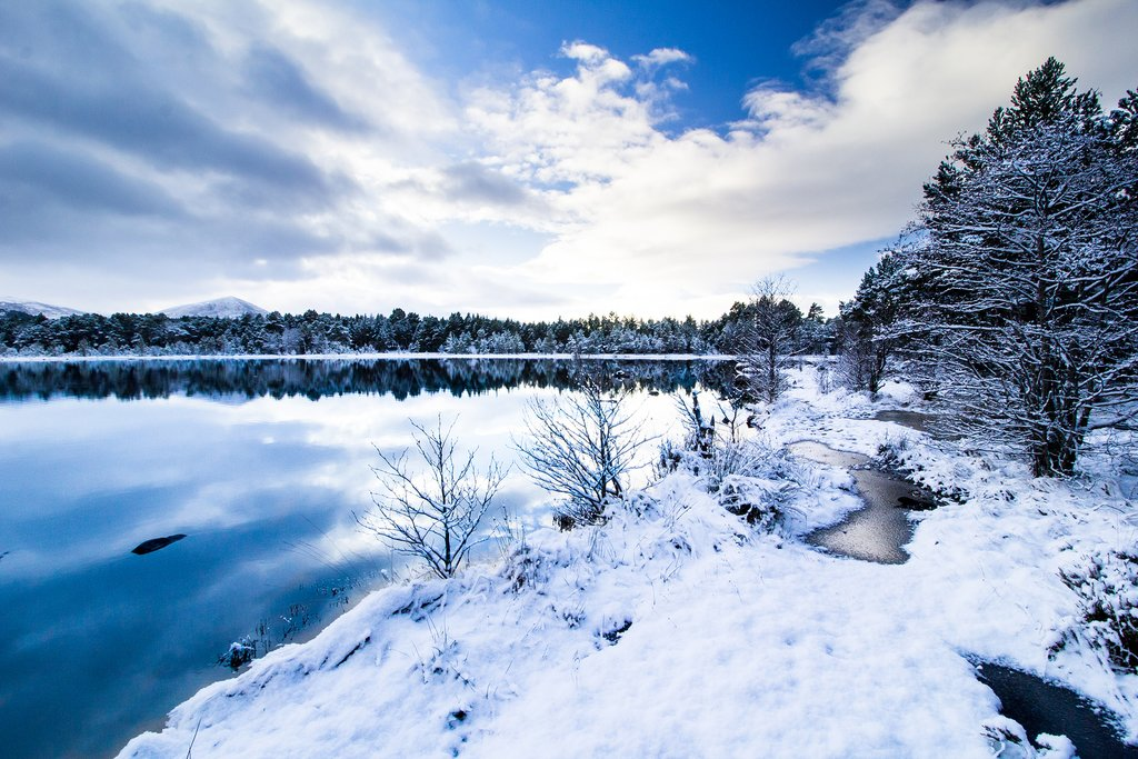 Loch Morlich in the Cairngorms National Park.