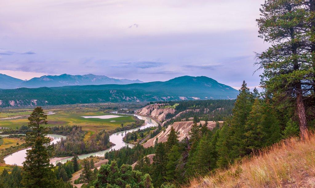 The Columbia River and Kootenay Rockies, near Radium Hot Springs
