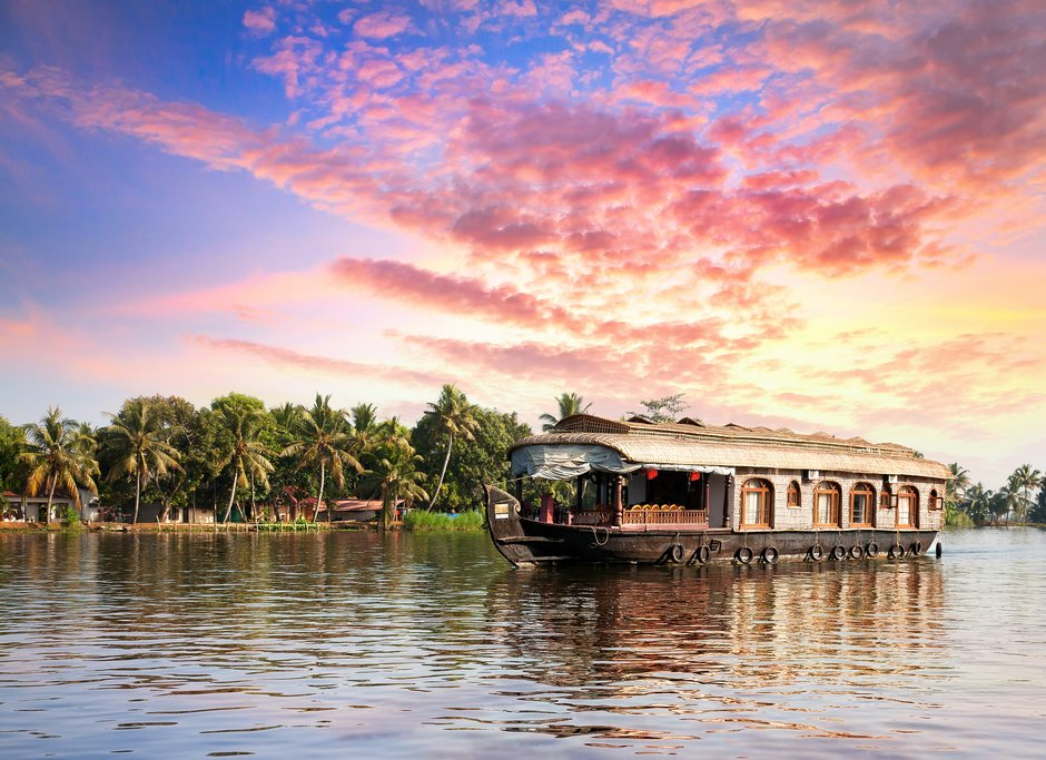 Stay a night on a houseboat for the ultimate Kerala experience