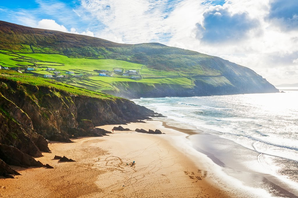 A beach on the Ring of Kerry route