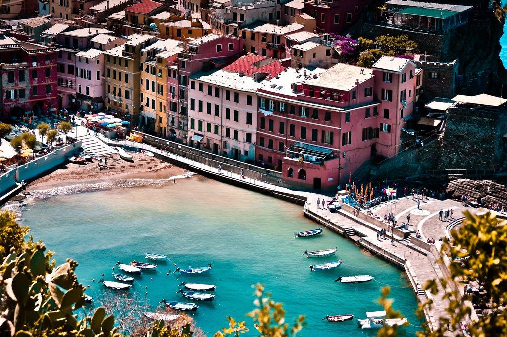 View of the Cinque Terre Coast