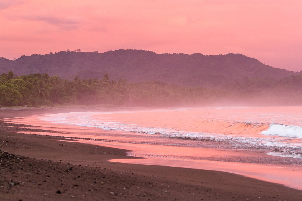 A Costa Rican Beach at Sunset