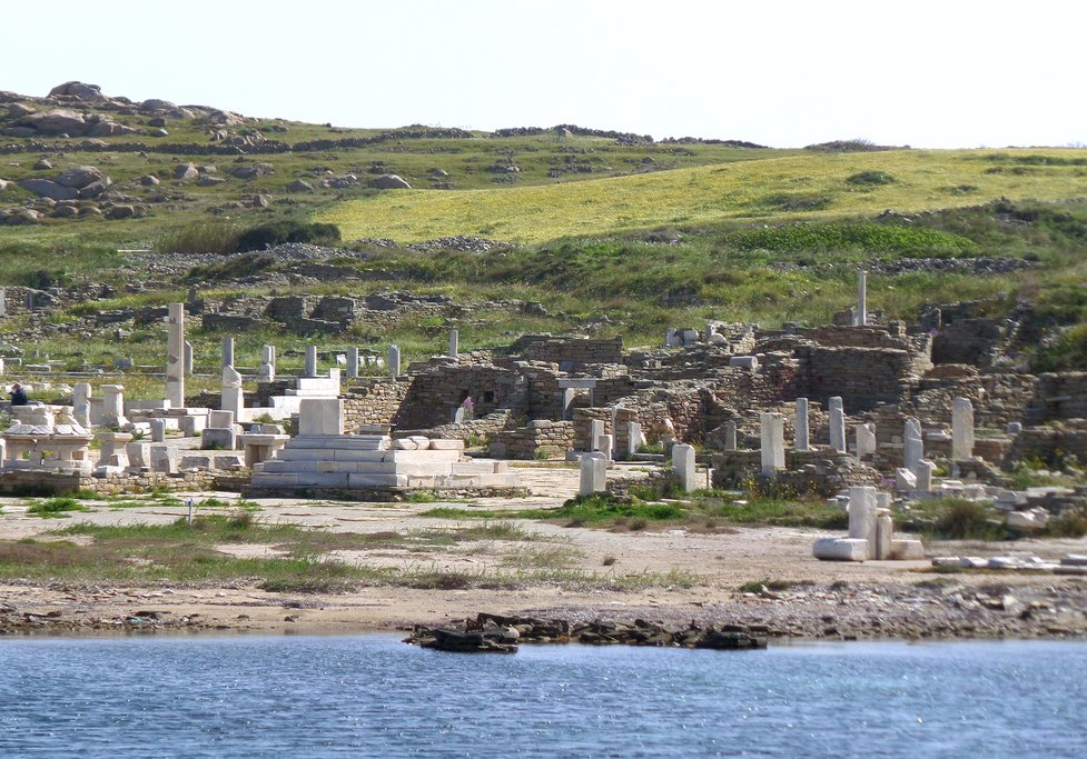 Approaching Delos by ferry