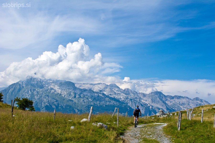 Mountain biking in Slovenian Alps