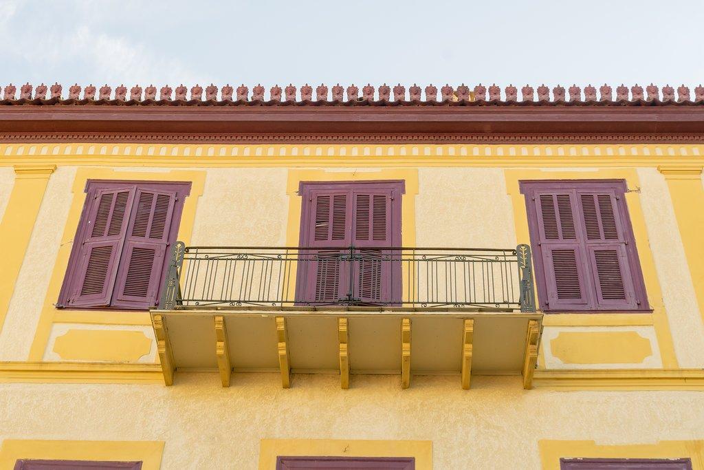 Bright Nafplio balconies