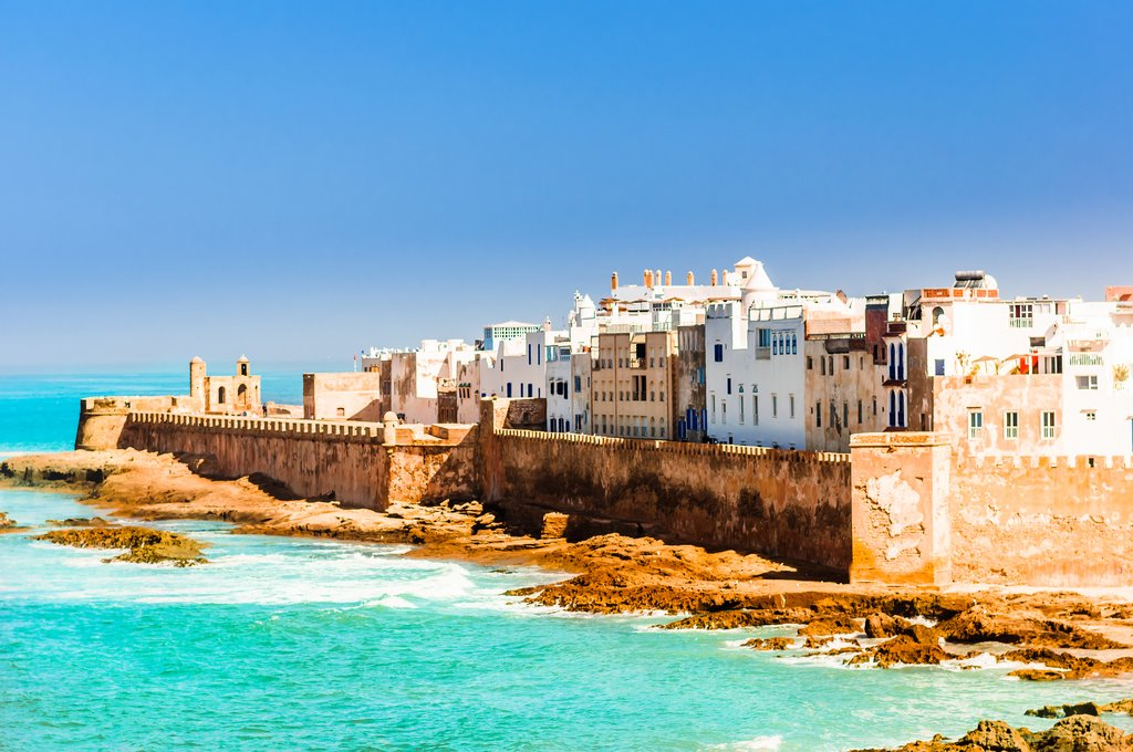 Old city of Essaouira on the coast