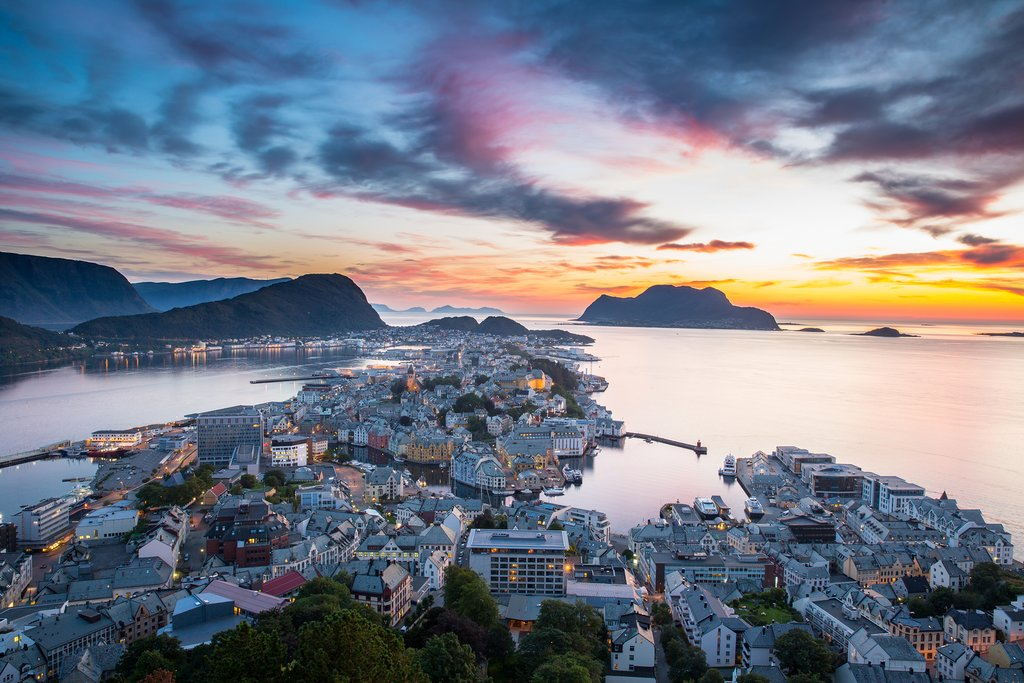 Ålesund offers Art Nouveau architecture and stunning views