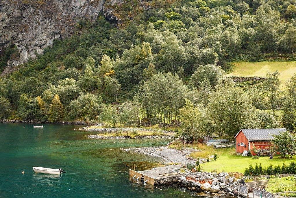Sail through the narrow Nærøyfjord on your last day