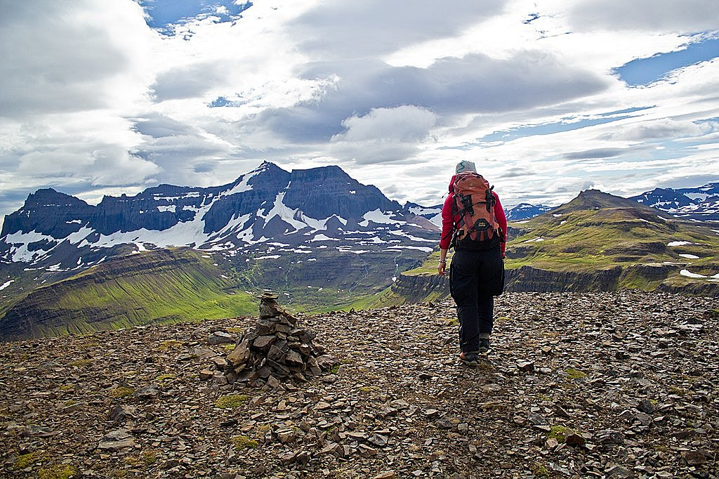 Trek in the remote East Fjords