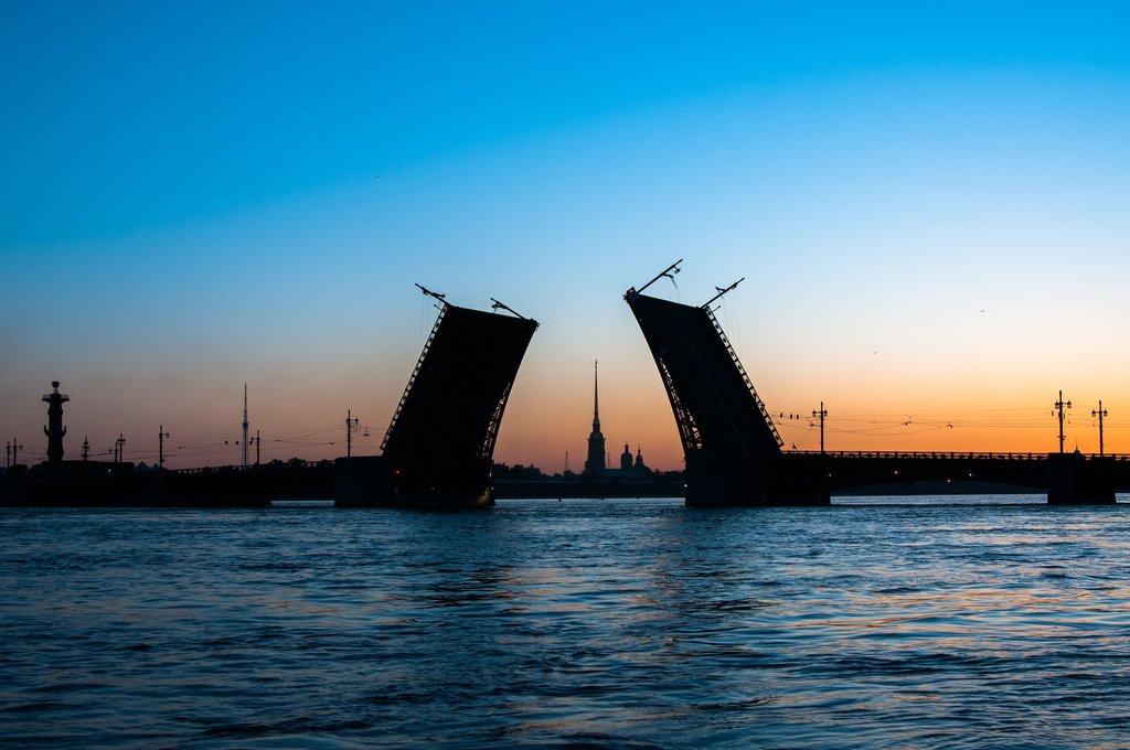 Drawbridges During St. Petersburg's White Nights
