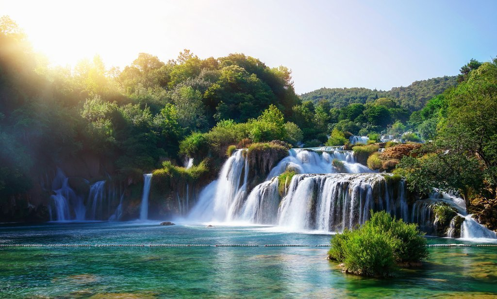 Cascading waterfalls of Skradinski Buk in Krka National Park