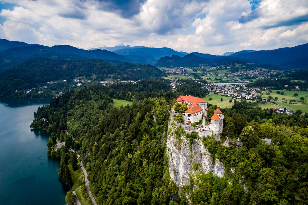 Bled Castle overlooks serene Lake Bled
