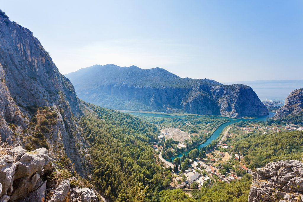 The village of Omis at the mouth of the Cetina River, Croatia's adventure capital