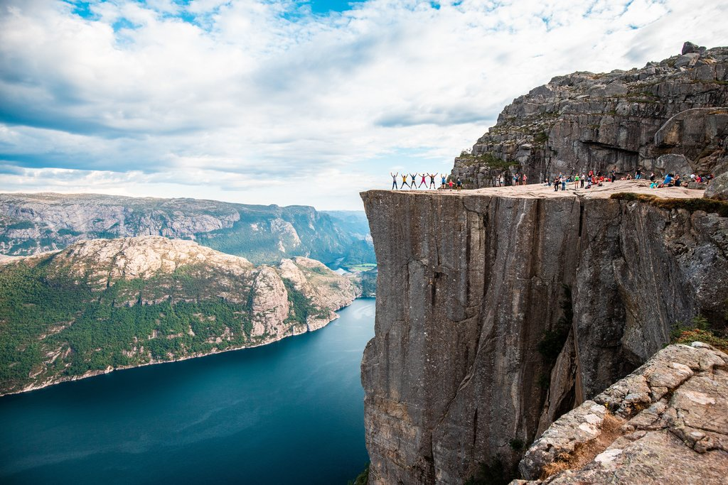 Spectacular views from Preikestolen