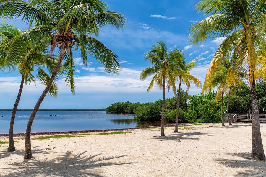 One of Key Largo's beautiful beaches