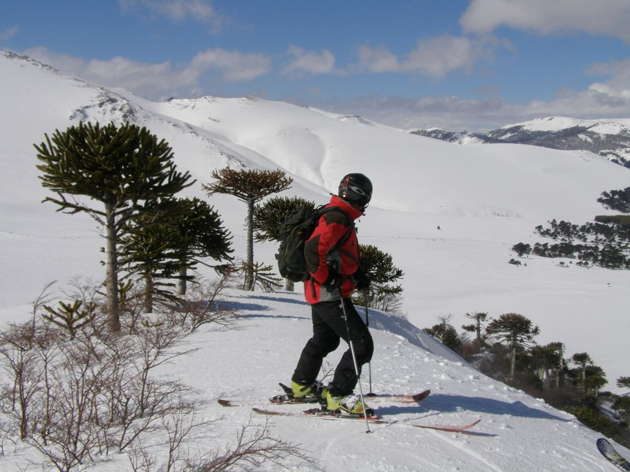 Skiing at Lonquimay Volcano.