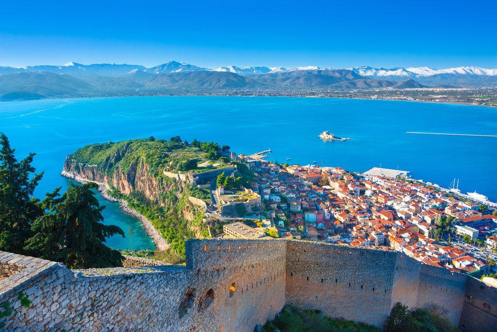 The view from Palamidi Castle, Nafplio