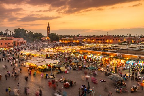 Marrakech's lively Jemaa el-Fna Square