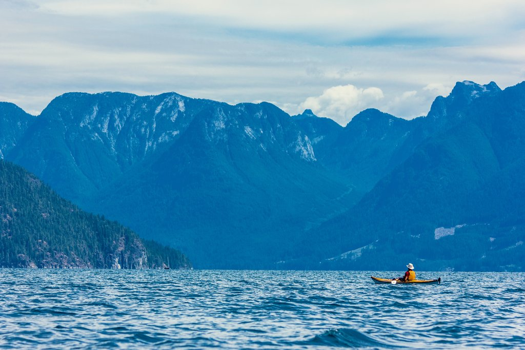 The remote and pristine Desolation Sound, home to some of BC's warmest waters