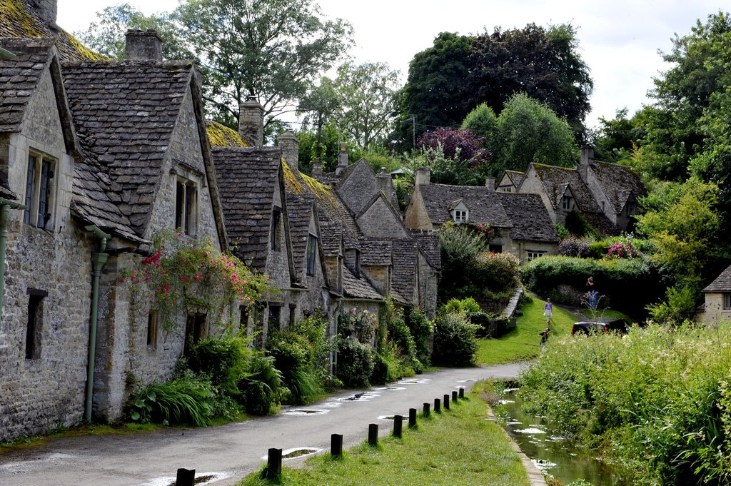 English village of Bibury in Cotswolds