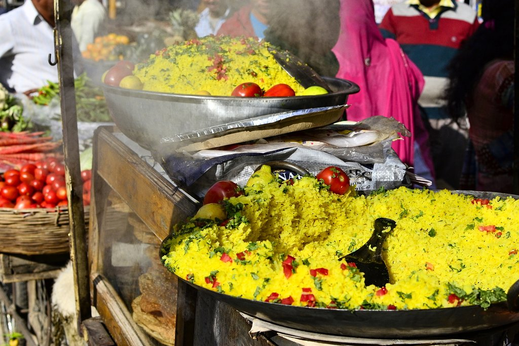 Street food cooking in Rajasthan