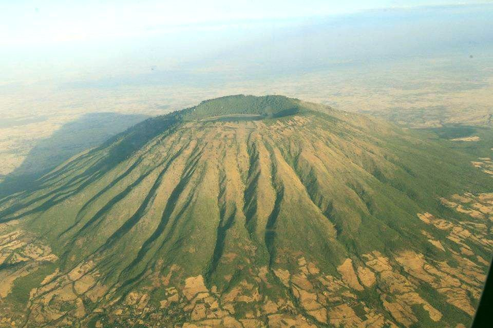 Mount Zuqualla from the Plane