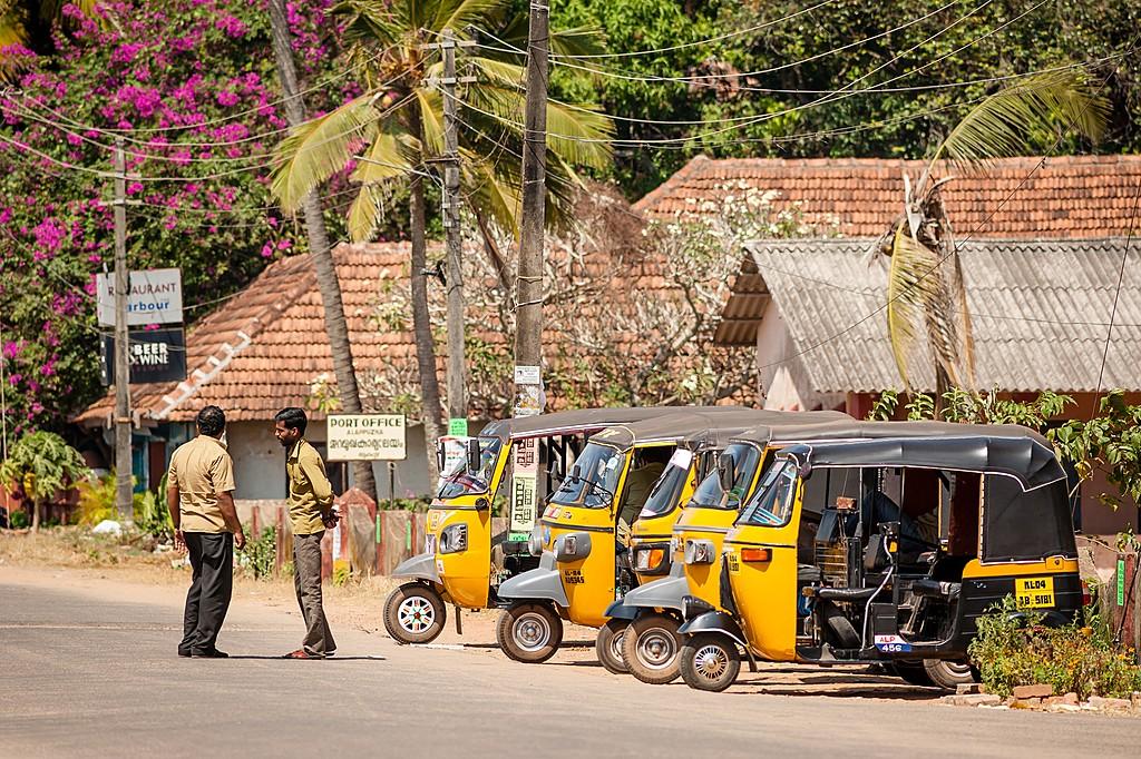 Auto-rickshaw drivers in Alleppey, Kerala
