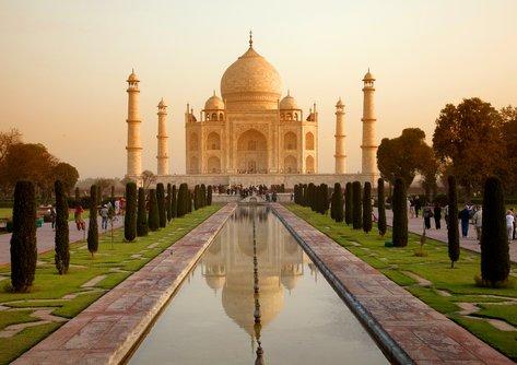 The splendour and symmetry of the Taj Mahal