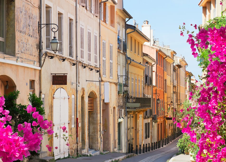 Charming street in Aix en Provence