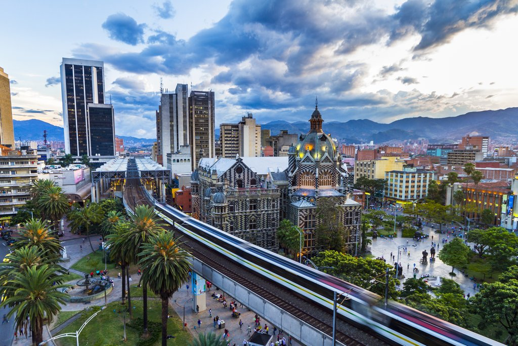 A skyline view of the city of Medellín, Colombia's capital
