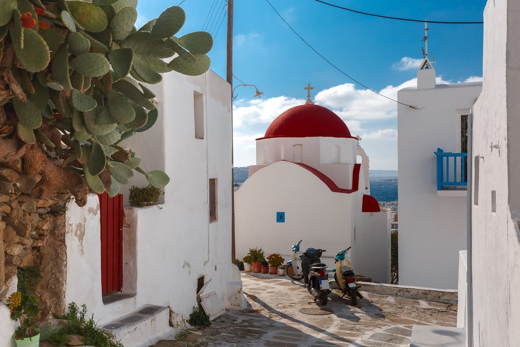 Domed church in Mykonos