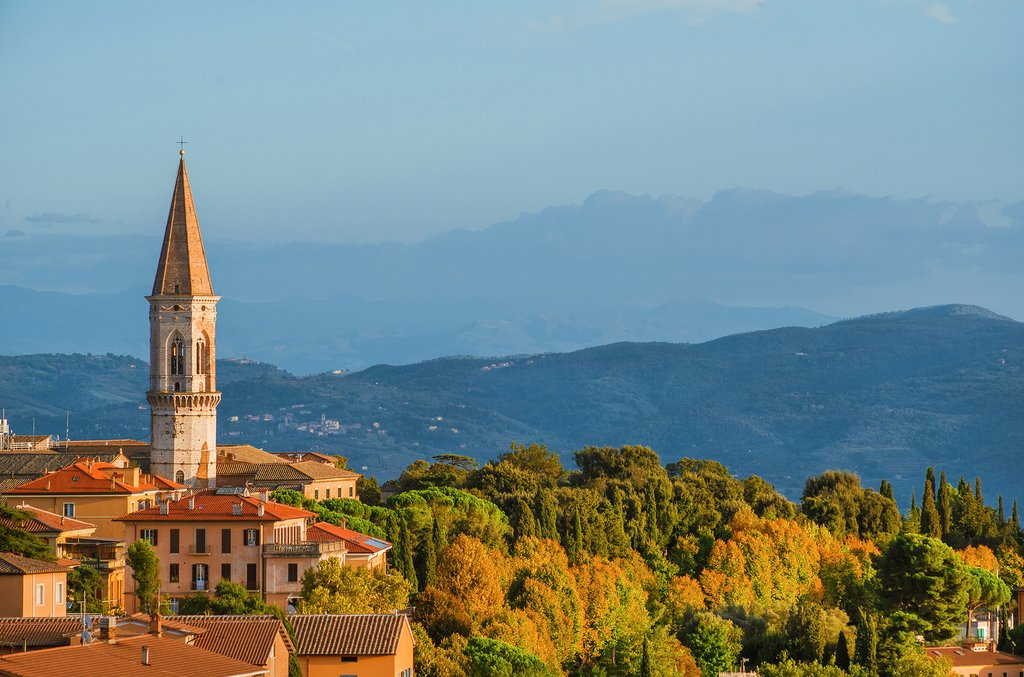 Views across the Umbrian countryside from the regional capital of Perugia.