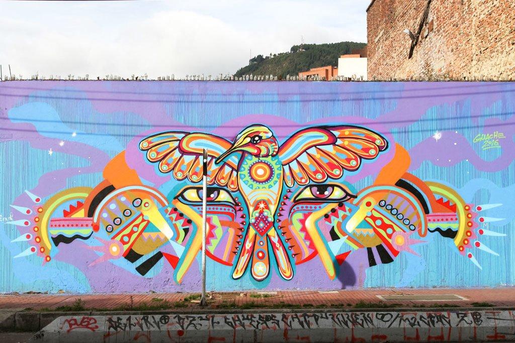Bogota graffiti murals