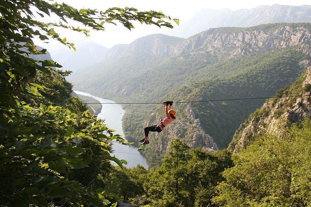 Zip your way across the Cetina River Canyon