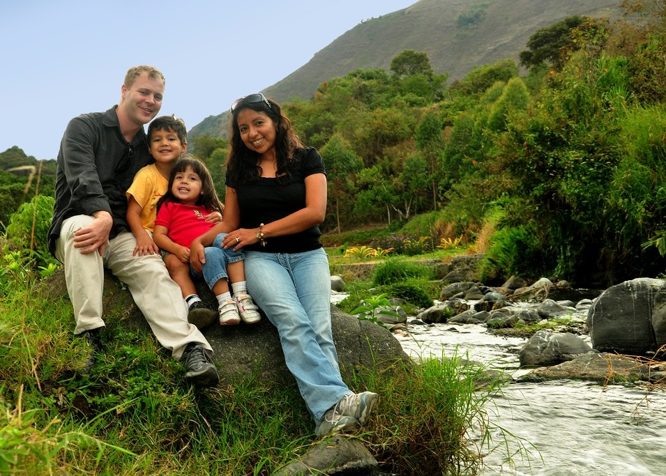 Family trip in Ecuador