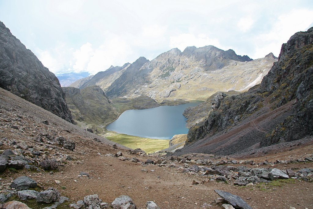Glacier lake in Lares Valley