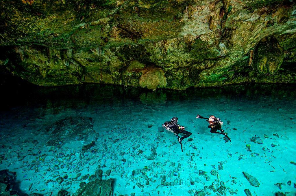 Cenote Dos Ojos on the Yucatán Peninsula