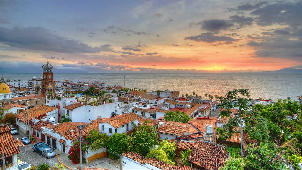 Sunset over Puerto Vallarta