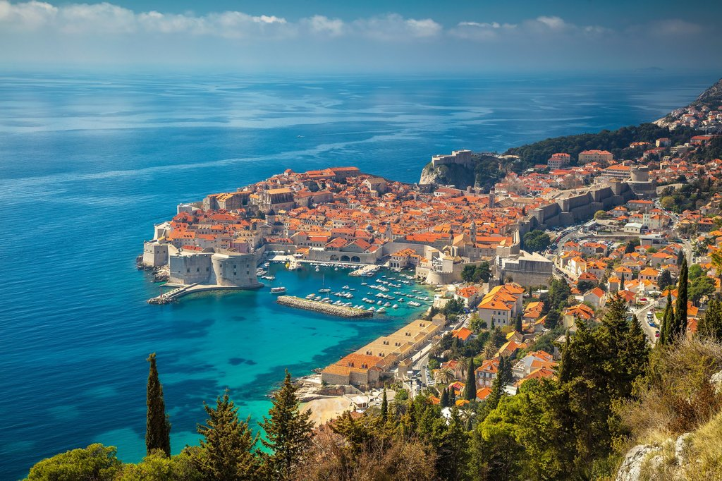 Admire the stunning view of medieval Dubrovnik and the Adriatic
