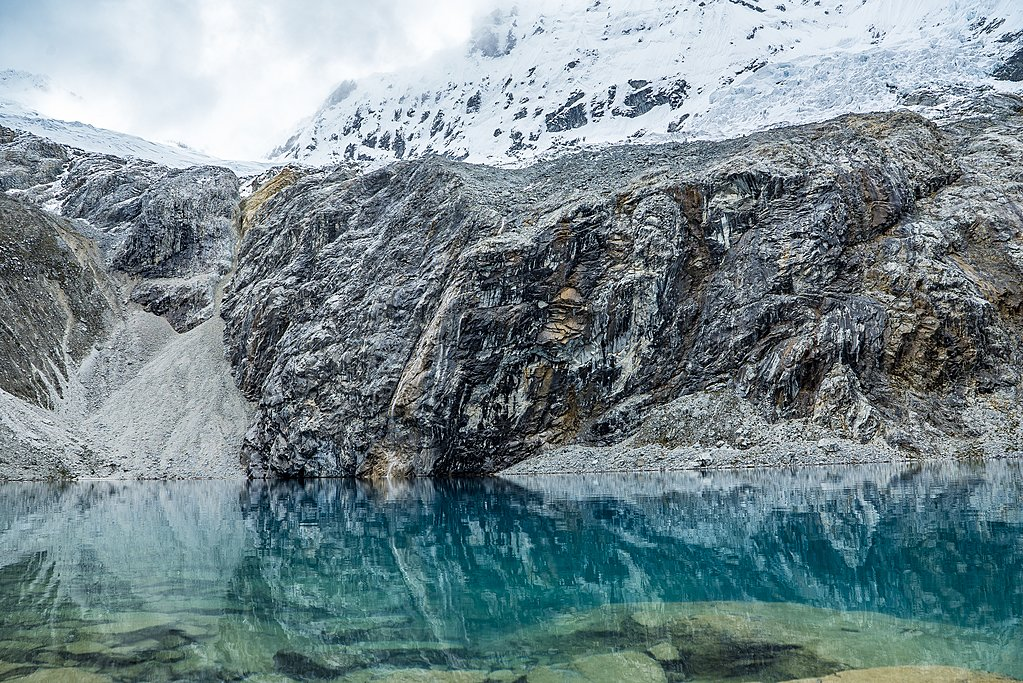 Glacial lake in the Peruvian Andes