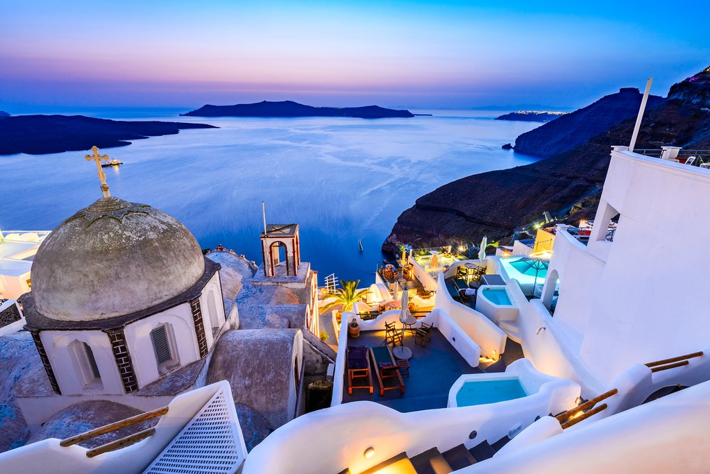 Cliffside Santorini at Fira town