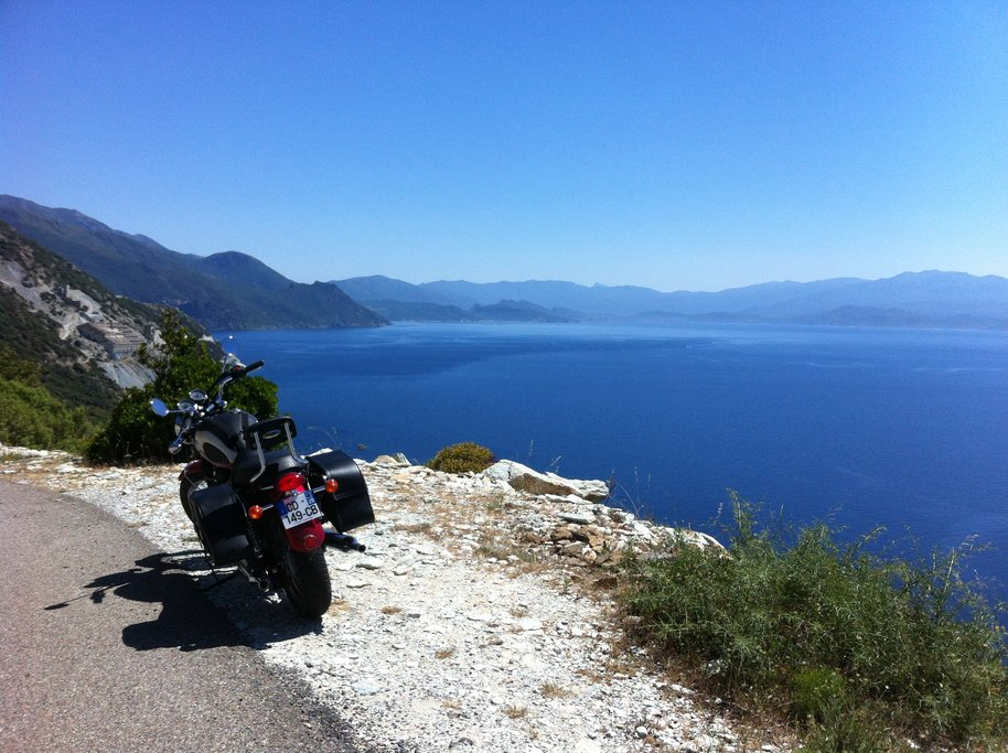 Coastal road in Cape Corsica