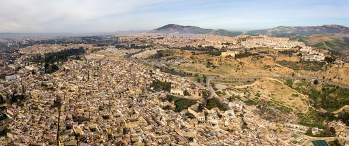 A panoramic view over Fes