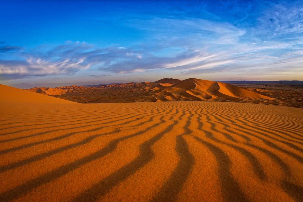 The desert near Merzouga